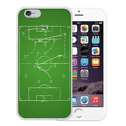 WoowCase Hülle Case für { iPhone 6 6S } Handy Cover Schutzhülle Fußball, der den Wand bricht Housse Gel iPhone 6 6S Transparent D0124