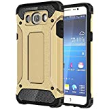 Skitic Etui Housse Coque Anti Choc pour Samsung Galaxy J5 2016 (SM-J510F), 2 en 1 Hybride Armour Case TPU + PC Incassable Back Cover Rigide Coque de Protection pour Samsung Galaxy J5 2016 Smartphone - Or