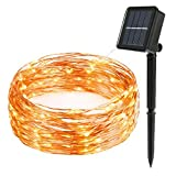 Flight Outdoor Solar Powered String Lights, 72FT 200 LED Starry String Lights, Copper Wire lights Ambiance lighting for Outdoor, Gardens, Homes, Dancing, Christmas Party (Warm White 200 Leds)