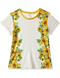 Poppers By Pantaloons Girls' Plain Regular Fit T-Shirt