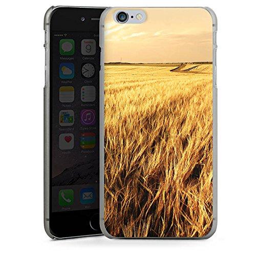 Apple iPhone X Silikon Hülle Case Schutzhülle Kornfeld Landschaft Feld Hard Case anthrazit-klar