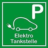 Schild für erneuerbare Energien - Parkplatz Elektro Tankstelle - Aluminium - 40 x 40 cm
