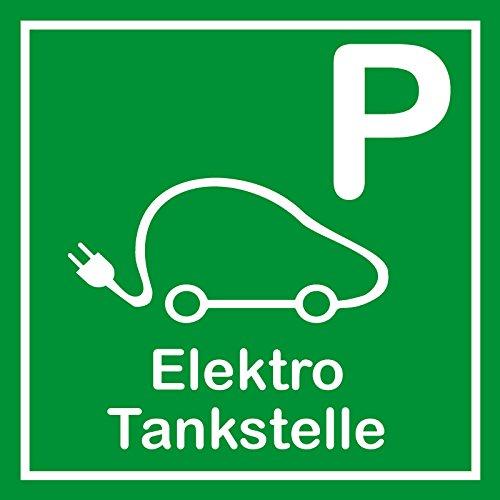 Schild für erneuerbare Energien - Parkplatz Elektro Tankstelle - Aluminium - 25 x 25 cm