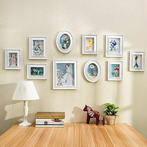 HJKY Photo Frame Wall Set Umweltschutz und stilvollen Rahmen Wand continental Bilderrahmen wand Umwelt stilvolle Wand Plug-Kunst gewidmet ist Weiß -
