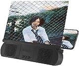 Dsnmm 10 Pulgadas de Pantalla Lupa con Altavoz, Pantalla del teléfono 3D HD Películas Lupa portátil Amplificador de teléfono proyector con Plegable del sostenedor del Soporte for Todo el Smartphone