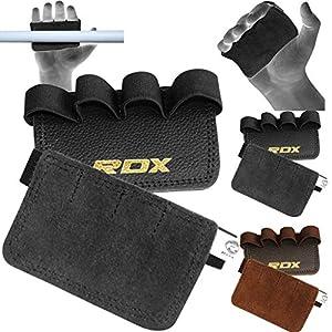 RDX Gym Leder Gewichtheben Griffe Krafttraining Griffpolster Fitness Griffpads (MEHRWEG)
