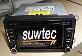 Suwtec VW Radio RCD510 RCD 510 mit MP3 Wechsler + SD Slot VW neu 3C8 035 190 C mit RFK Anschluss 3C8035190C