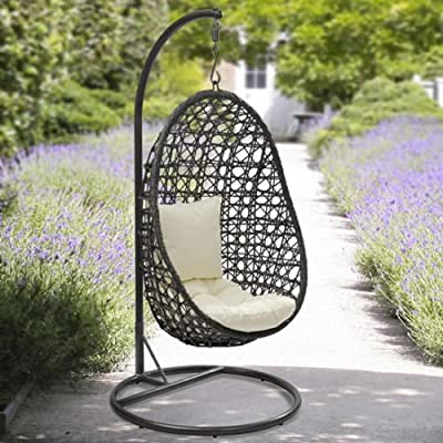 Havana rattan hanging egg chair