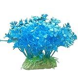 12cm Plastique Plantes D'aquarium Ornement Pour Aquarium - Bleu