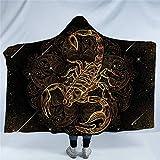 Westtreg Goldene Tier Kollektion Kapuzendecke Schildkröte Schildkröte Sherpa Fleece Tragbare Decke Delphin Eule Decke-150cm (H) x200cm (W)
