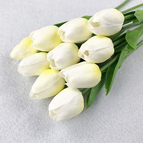 Nelke Heiße Schokolade (hahashop2 Künstliche Blume Brautstrauß Party Hause Dekor Hochzeitsdekoration Tulip Man Made Dekoration Künstliche Blume)
