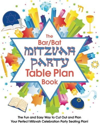 The Bar/Bat Mitzvah Table Plan Book: The Fun and Easy Way to Cut Out and Design Your Perfect Mitzvah Celebration Party Seating Plan! by Alison McNicol (2014-02-10)