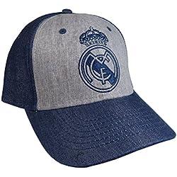 Gorra Real Madrid adulto marino gris primer equipo [AB3925]