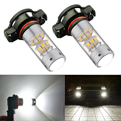 861731b8c27 BOGAO High Power 3000 Lúmenes 3030 SMD Super extremadamente brillante 6000K  Blanco 2504 PSX24W Bombillas LED