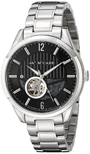 James McCabe Men's JM-1020-11 Belfast Analog Display Japanese Automatic Silver Watch