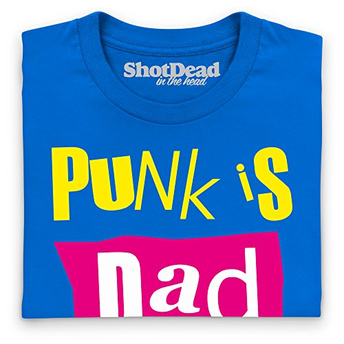 Punk Is Dad T-Shirt, Herren Royalblau