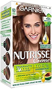 garnier nutrisse creme coloration karamell dunkelblond 60 f rbung 3er pack 3 x 1 st ck. Black Bedroom Furniture Sets. Home Design Ideas