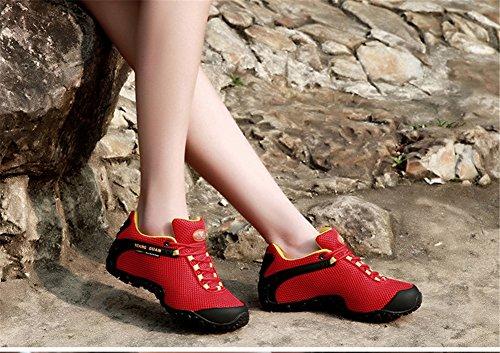 XIANG-GUANG, Scarpe da arrampicata uomo red,gray,pink,green Red