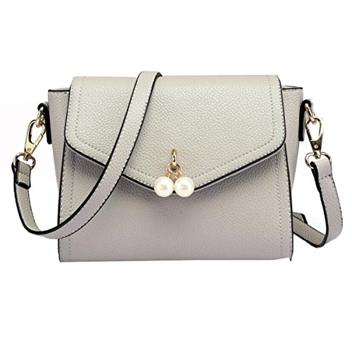 WU Zhi Dame Wild Temperament Packet Schulter Messenger Bag Handtasche Handtasche Grey