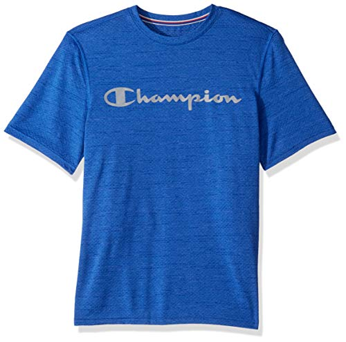 Champion Double Dry T-shirt (Champion Herren Double Dry Graphic Heather Tee T-Shirt, Surf The Web, Groß)
