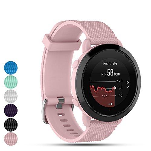 Feskio Für Suunto 3Fitness Smartwatch Gurt Band, Ersatz Weiches Silikon Uhrenarmband Sport Quick Release Wriststrap Armband für Suunto 3Fitness Uhr Small Rose