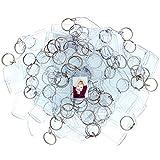 50 Transparente Acryl Foto Schlüsselanhänger von Kurtzy - 5.4cm x 3.2cm Leerer Schlüsselbund - Brieftaschenfreundlicher Schlüsselring für Benutzerdefinierte personalisierte Eingefügte Bilder - Kunststoff Schlüsselanhänger für Frauen und Männer