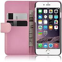 iPhone 6 Plus / 6s Plus Lederhülle | JAMMYLIZARD Ledertasche [ Wallet Tasche Series ] Leder Book Case Hülle Flip Cover Schutzhülle mit Kartenfach, Rosa