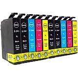 10x Caidi con nuevo chip actualizado Epson 29 XL Cartuchos de tinta compatibles con Epson Expression Inicio XP-332 XP-335 XP-235 XP-432 XP-435 XP-245 XP-247 XP-342 XP-345 XP-442 XP-445 XP -330 XP-430 (4 Negro, 2Cyan, 2 Magenta, 2 Amarillo)
