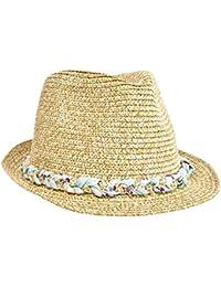2fdf60fb24a5c5 Mytem-Gear Damen Stroh Trilby Strohhut Sonnenhut Strandhut Hut mit  geflochtenem Band