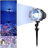 [Projektionslampe LED Weihnachtsbeleuchtung] Laserstrahler Schneeflocken Lichter Wasserdichte IP44 Außenbeleuchtung Gartenlicht für Weihnachten Karneval Dekoration Laserlicht