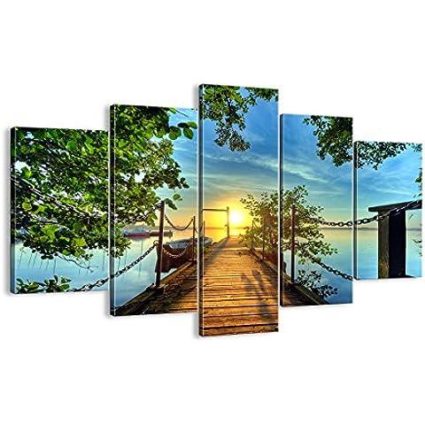 Cuadro sobre lienzo - 150x100 cm - Impresión en lienzo - 5 piezas - de varias partes - listo para colgar - en un marco - Foto número 2573 -