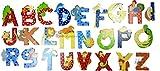 Sevi Holz Buchstaben Tiere 3 Buchstaben im Set Farbe Buchstabe Klebestrip auswählbar