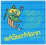 Polyclean Microfasertuch mit Motiv'WASSERMANN' - Auch geeignet zur Reinigung von Displays, DVDs/CDs und Objektiven! (17,5x17,5cm) - waschbar