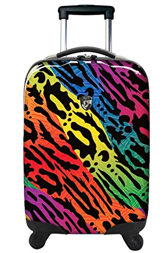 ... 50% SALE ... PREMIUM DESIGNER Hartschalen Koffer - Heys Novus Art Pfau - Trolley mit 4 Rollen Gross Monarch Rainbow