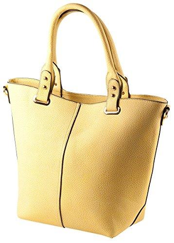 Liberta' Shopper Tasche LI10028 Damen Handtasche 38x29x14 cm (BxHxT), Farbe:Blau Weiss