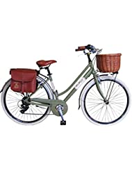 Via Veneto By Canellini Bicicleta Bici Citybike CTB Mujer Vintage Retro Via Veneto Aluminio Verde