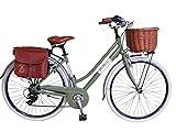 Via Veneto By Canellini Fahrrad Rad Citybike CTB Frau Vintage Retro Via Veneto Alluminium Grun