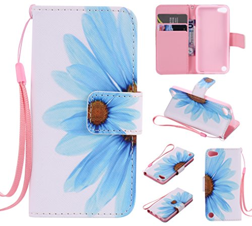 Leather Case Cover Custodia per iPhone 5 5S 5G / iPhone SE,Ecoway Caso / copertura / telefono / involucro Modello retrò colorato del modello PU con a Bookstyle tasche carte di credito funzione con int Girasole