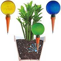 Globos de riego Plantpal (3, color verde, azul y naranja), sistema de riego automático de riego para vacaciones, picos de riego.Este producto funciona de verdad