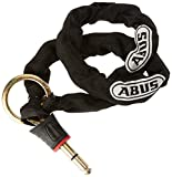 ABUS Fahrradschloss 4960 Chain 6ks/85 + St 4850 Vorhängeschloss schwarz, 85 cm
