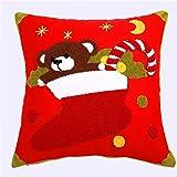 Die besten Kissenbezug Weihnachtsschmuck - XINMMLL Kissenbezug Weihnachten Bär Kissen Kissen Weihnachtsschmuck liefert Bewertungen