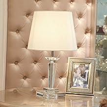 CivilWeaEU- Letto lampada di cristallo da letto comodino lampada moderna Minimalista modo creativo americano Lampade