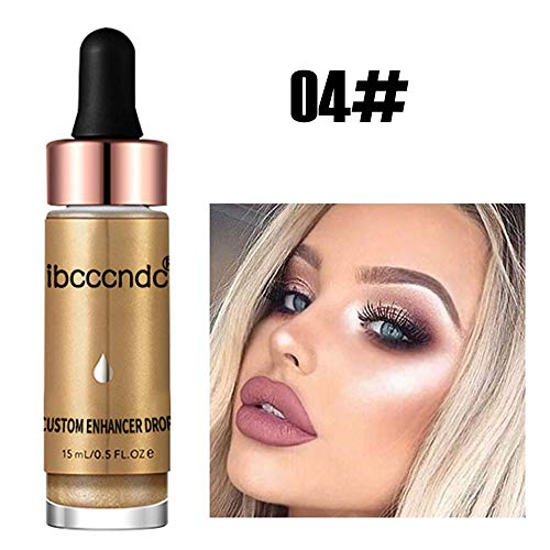 Frauen Gesicht Glow Glitter Concealer Liquid Highlighter Gesundheit Shimmer Makeup,Sansee All Day Flawless Foundation Nude Face Abdeckcreme Full Coverage Skin Care Foundation Oil Control -