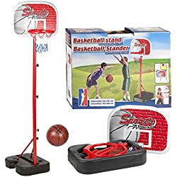 Set de canasta de baloncesto para niños - Sin fijación a la pared y portátil