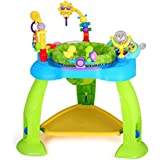 Baby Bucket Baby Jump and Play Activity Centre Baby Toys Multifunctional Baby Bounce Chair with Light and Electronic Organ (Blue)