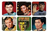 Star Trek - Untersetzer 6er Set - Captain Icons - Pille - Spock - Kirk - Uhura - Sulu