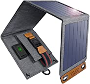 Solar Charger, CHOETECH 14W Waterproof Portable USB Outdoor Solar Panel Charger with 4 Foldable Solar Panel fo