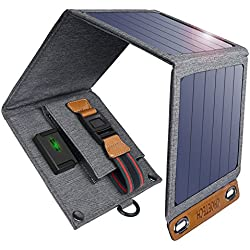 Solar Charger, CHOETECH 14W Waterproof Portable USB Outdoor Solar Panel Charger with 4 Foldable Solar Panel for Smartphone Tablet Camera Powerbank and Camping Travel