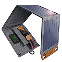Solar Charger, CHOETECH 14W Waterproof Portable USB Outdoor Solar Panel Charger with 4  Foldable Solar Panel for Smartphone Tablet Camera Powerbank and Camping Travel 1