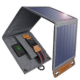 CHOETECH Caricatore Solare, 14W Caricabatterie Solare Portatile Pieghevole, Impermeabile Compatibile con Apple iPhone…